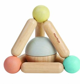 Plan Toys Triangle clutching toy pastel