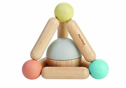 Plan Toys Driehoekrammelaar in pastelkleuren