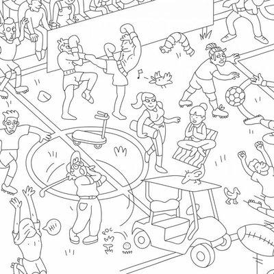 OMY Poster géant à colorier Sport