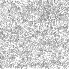 OMY OMY Giant Coloring Poster - Huge map of Madrid