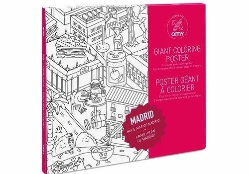 OMY Kleurposter Madrid