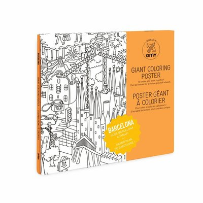 OMY Colouring poster Barcelona