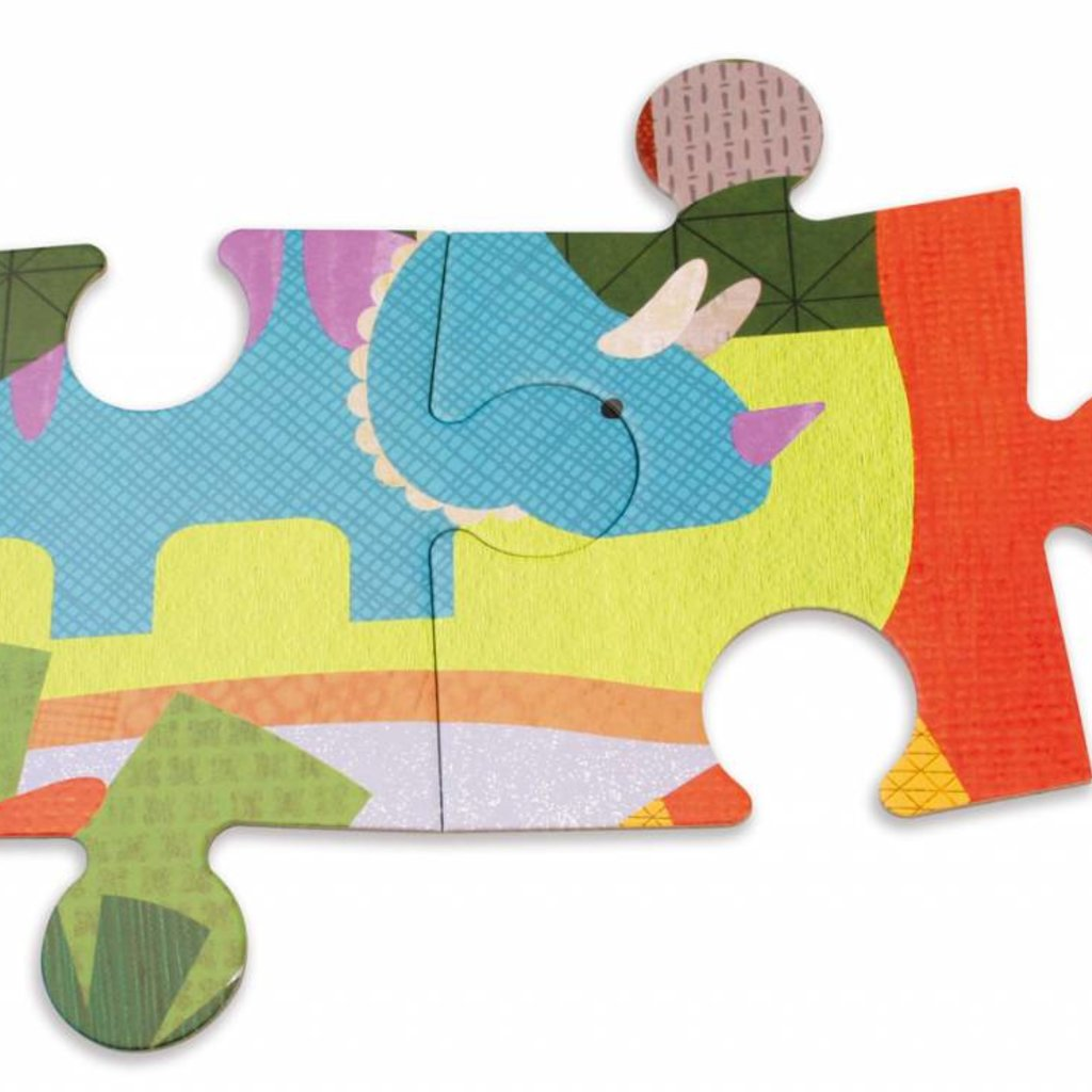 Petit Collage Petit Collage dinosaur kingdom floor puzzle