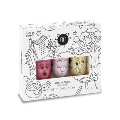 Nailmatic Nail polish set Magic Forest 3 colours