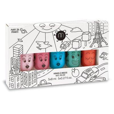 Nailmatic Vernis à ongles coffret City 5 couleurs