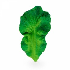 Oli & Carol Teether cabbage leaf in natural rubber