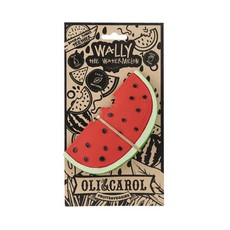 Oli & Carol Teether watermelon in natural rubber