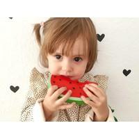 Bijtspeeltje watermeloen in natuurrubber