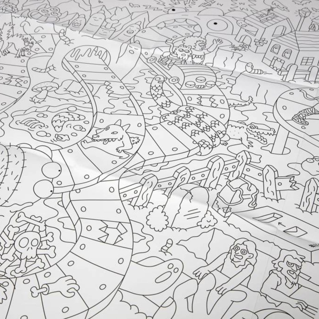 OMY OMY Giant Coloring Poster - The freakiest colouring poster ever!
