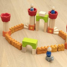 Plan Toys Build your own castle with the Plan Toys castle blocks