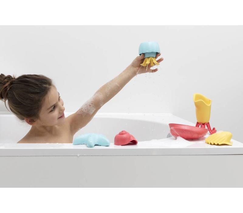 7-delige badset in gerecycleerd plastic