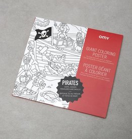 OMY Kleurposter Piraten