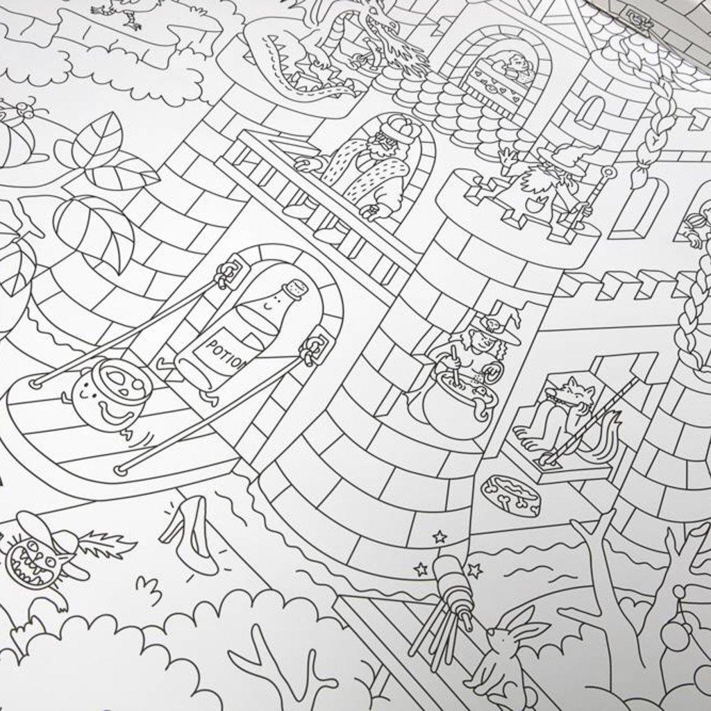 OMY Reuze kleurposter vol sprookjes en legenden