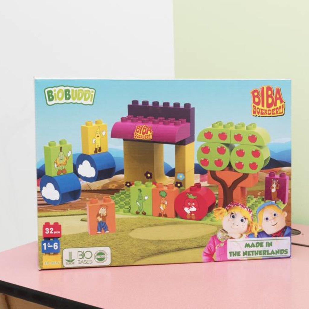 Biobuddi Biba boerderij bouwblokken (32 delig)