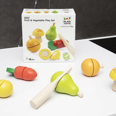 Plan Toys Ensemble de base de fruits et légumes