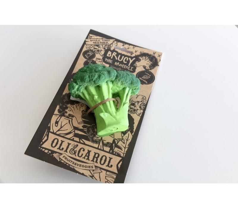 Bijtspeeltje broccoli in natuurrubber