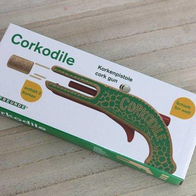 Neue Freunde Pistolet à bouchons de liège Crocodile