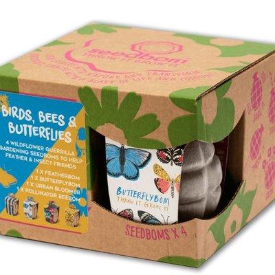 Kabloom Birds, Bees & Butterflies Seedbom Gift Box