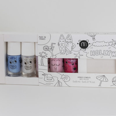 Nailmatic Vernis à ongles coffret Hollywood - 5 couleurs