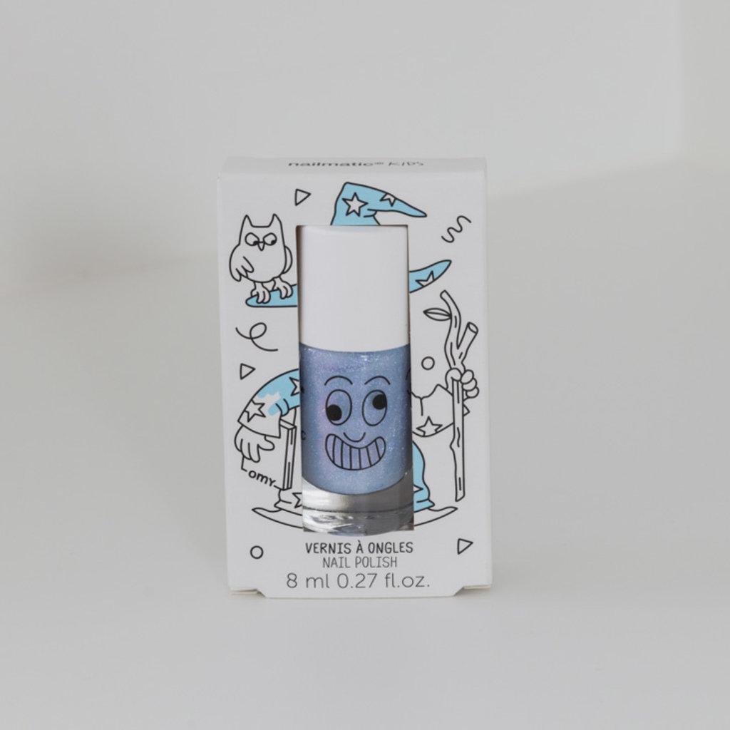 Nailmatic Nailmatic nagellak blauw met glitter Merlin