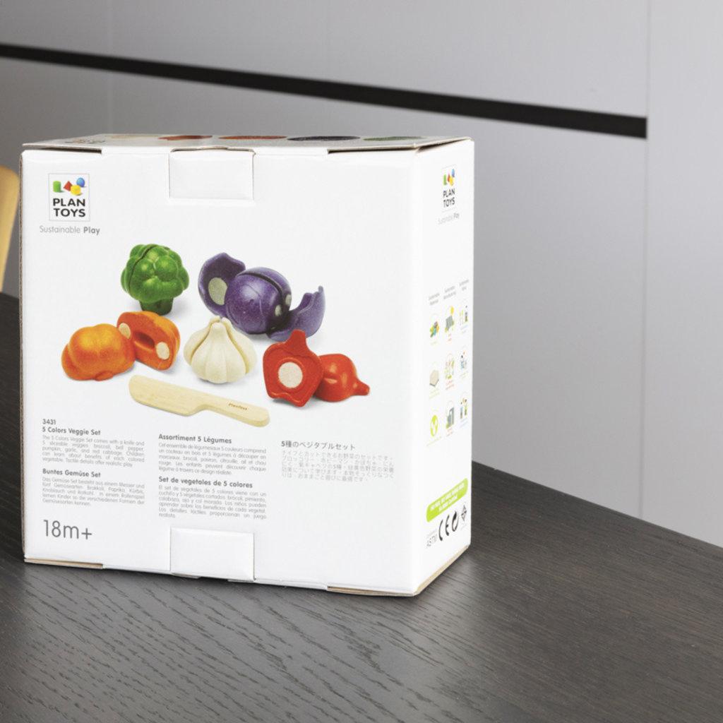 Plan Toys 5 Kleuren groentenset