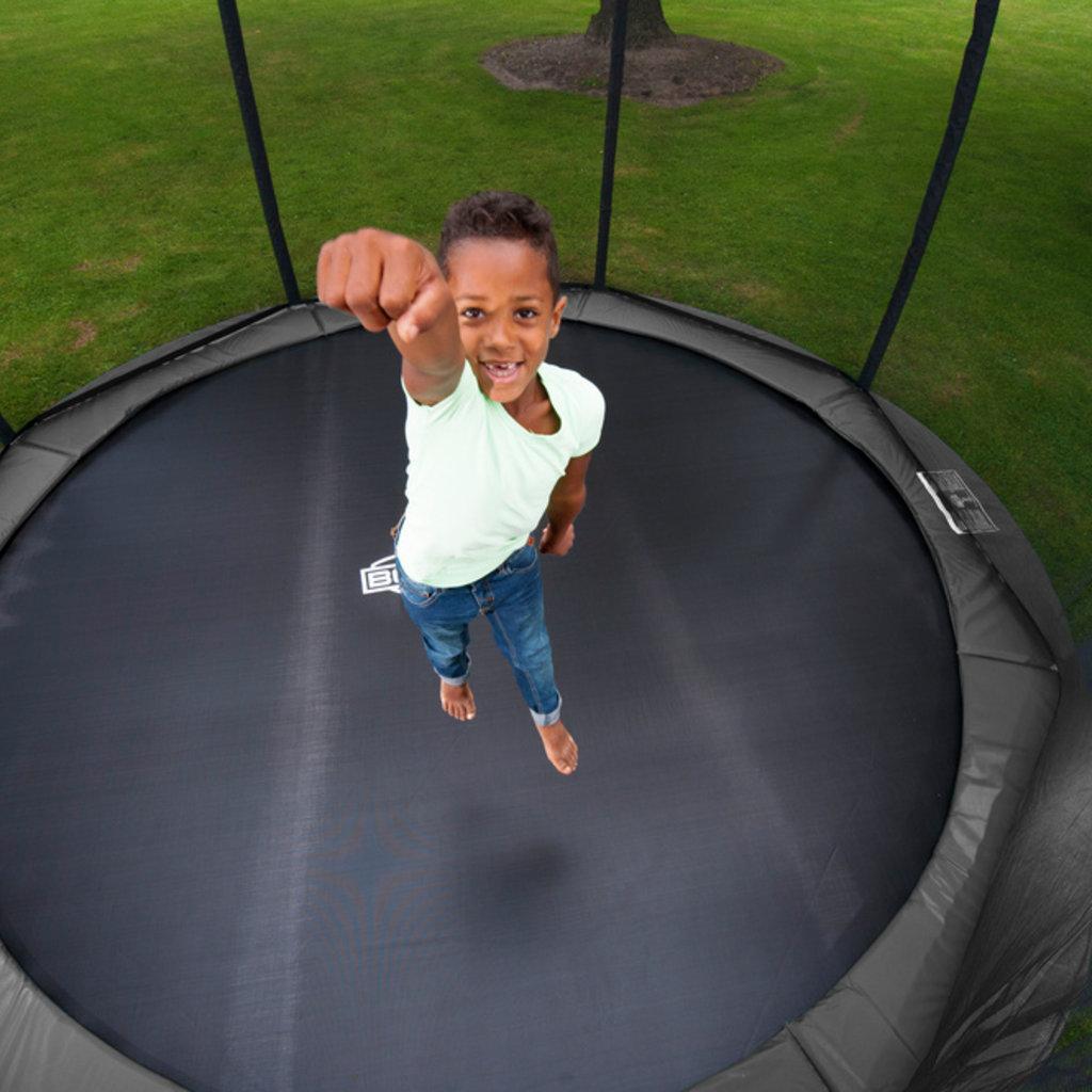 BERG trampolines Trampoline Inground Champion 430 grijs + veiligheidsnet Deluxe
