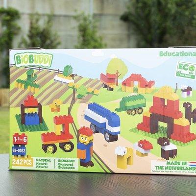 BioBuddi Super set de blocs de construction ferme 242 pièces