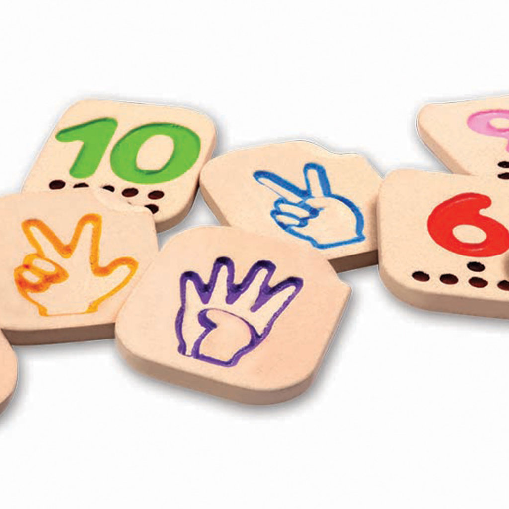 Plan Toys Plan Toys hand sign numbers 1-10