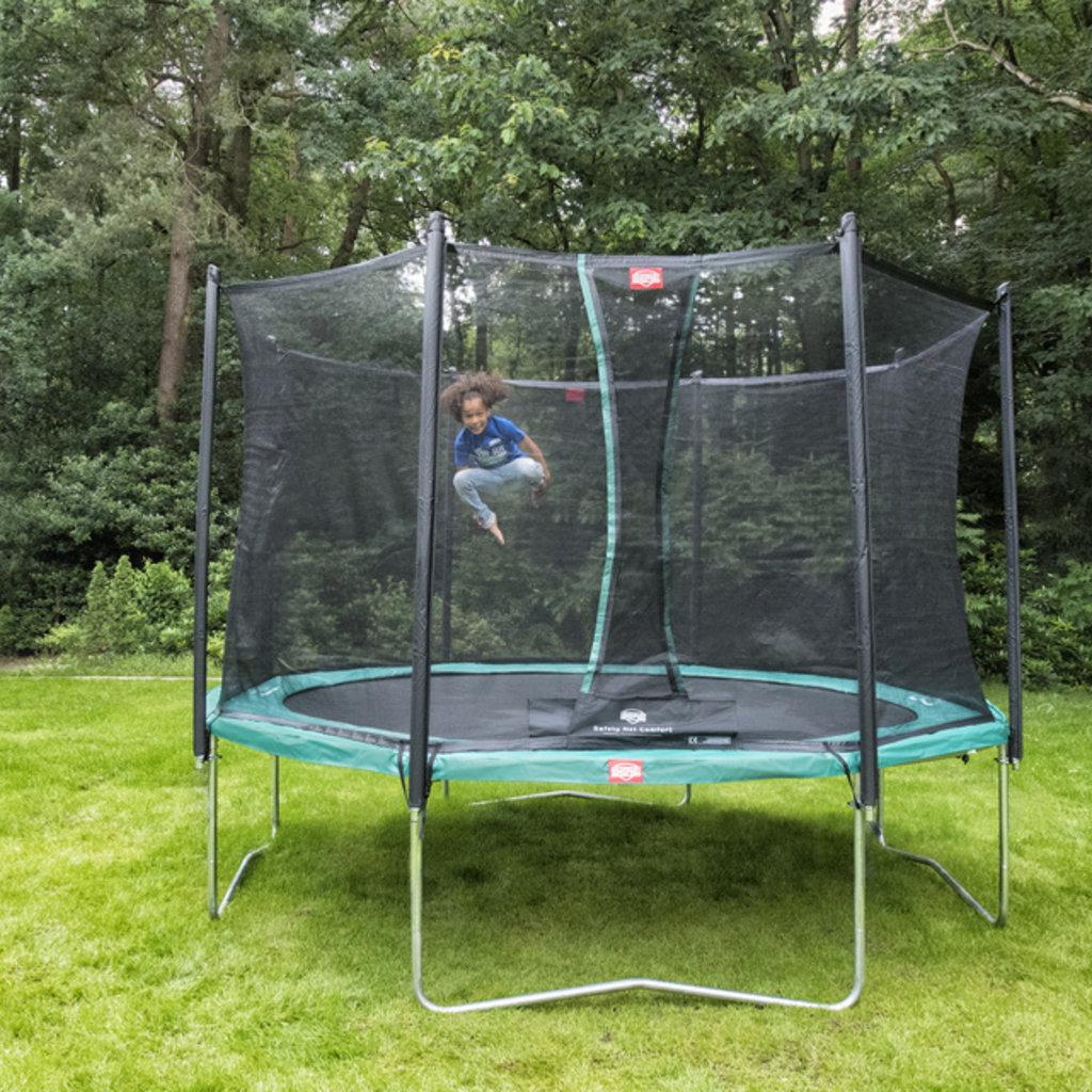 Berg Trampoline Favorit 430 cm groen + veiligheidsnet comfort
