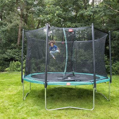 Berg trampolines Trampoline Favorit 430 cm groen + veiligheidsnet comfort
