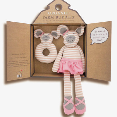 Organic Farm Buddies Set cadeau 'Ballerina Mouse'