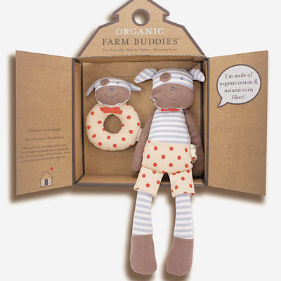 Organic Farm Buddies Gift set 'Boxer Dog'