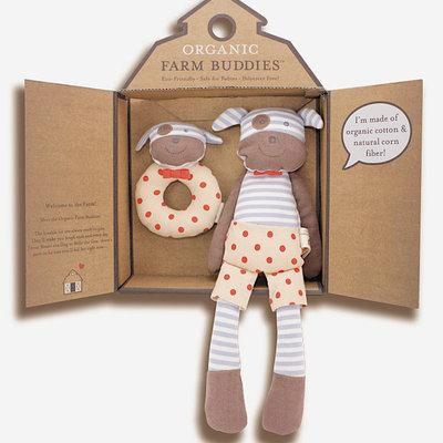 Organic Farm Buddies Knuffel-cadeauset 'Boxer Dog'