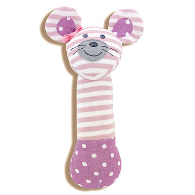 Organic Farm Buddies Rattle stick 'Ballerina Mouse'