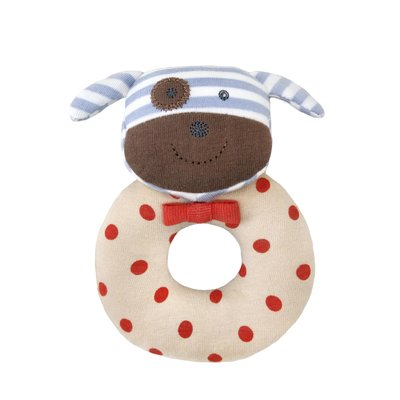 Organic Farm Buddies Rattle ring 'Boxer dog'