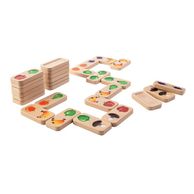 Plan Toys Fruit- en groentendomino