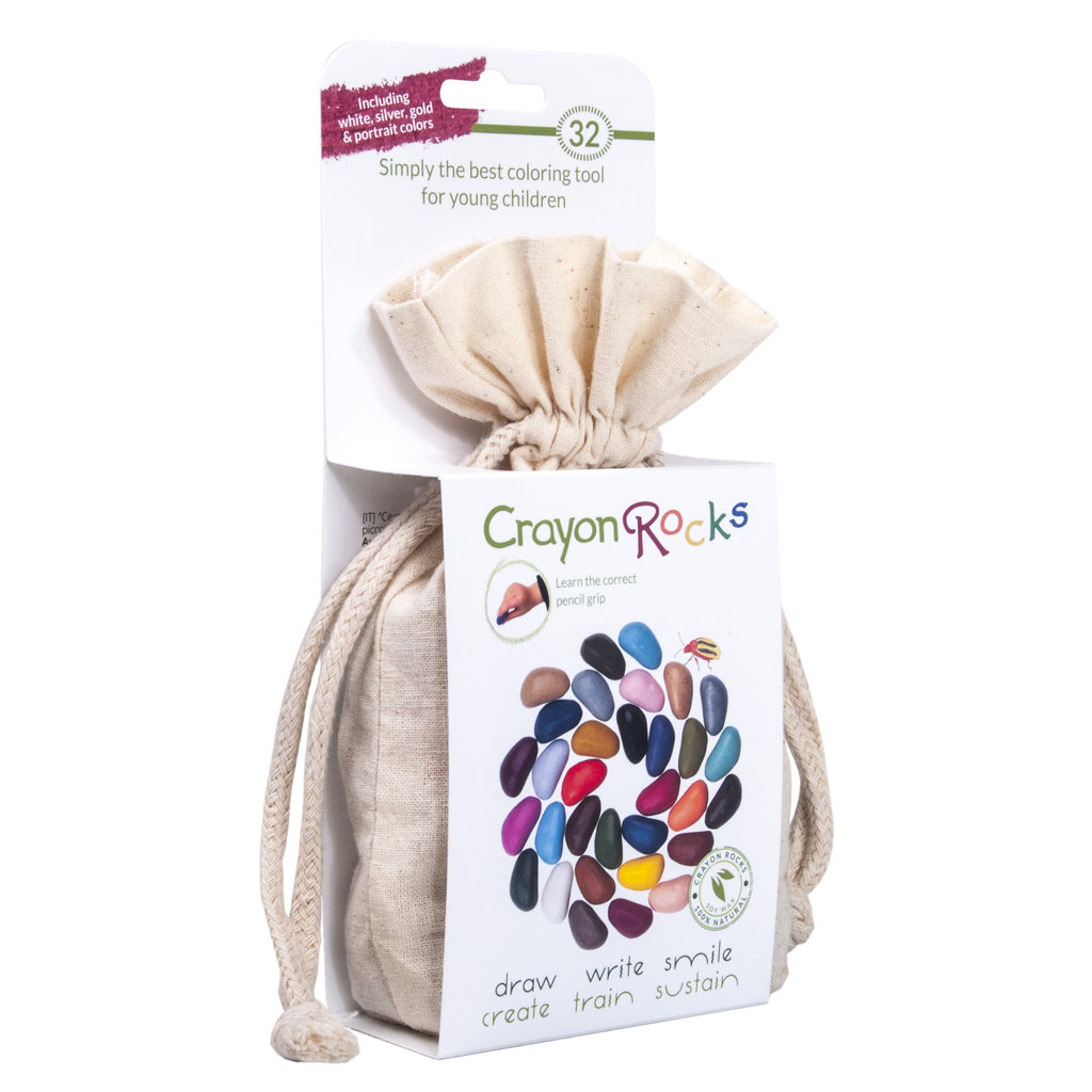 Crayon Rocks Soy crayons in bag (32 pieces)