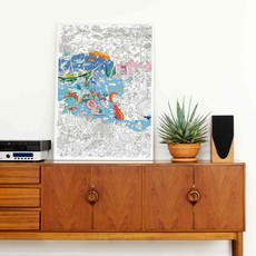 OMY Giant coloring poster Ocean