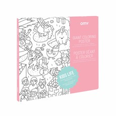 OMY Giant coloring poster Kids Life