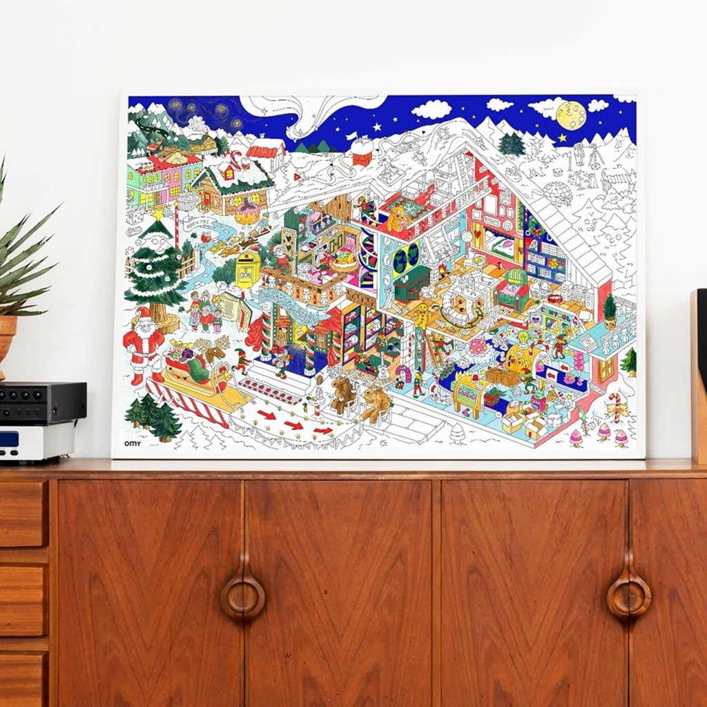 OMY Colouring poster Christmas factory