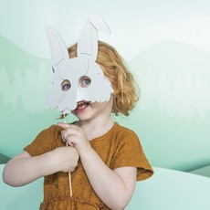 Mister Tody Bunny mask made of cardboard