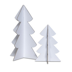 Mister Tody Christmas tree set (2 pieces) made of cardboard