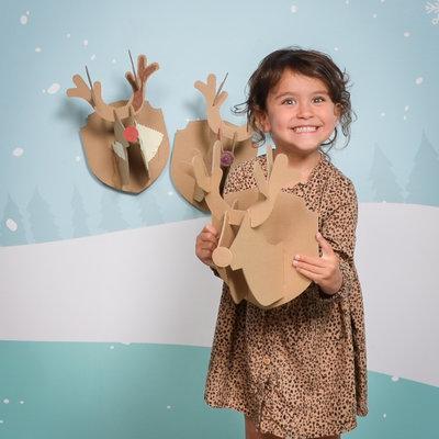 Mister Tody Christmas reindeer head in cardboard