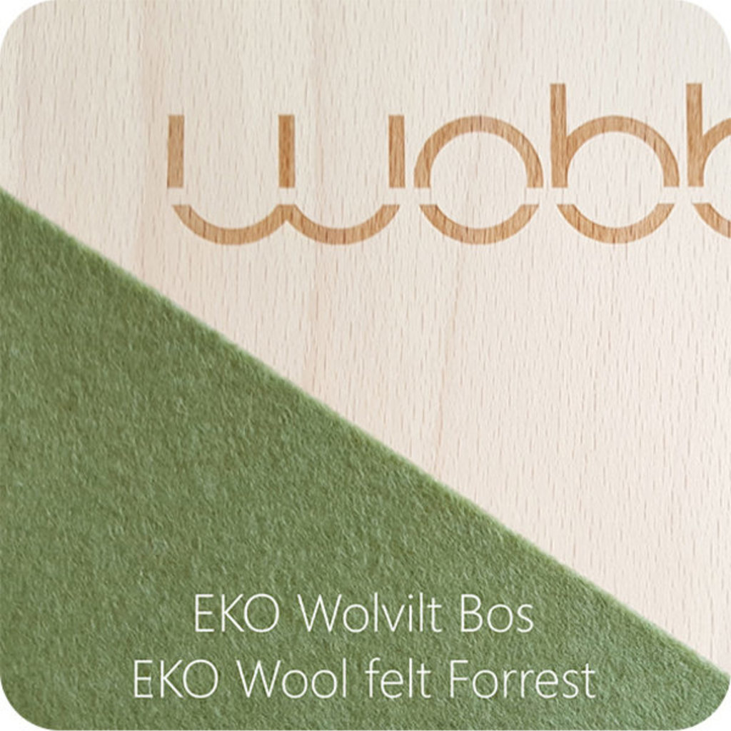 Wobbel Wobble original blank lacquered with felt forest