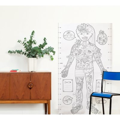 OMY Giant colouring poster XXL - My Body