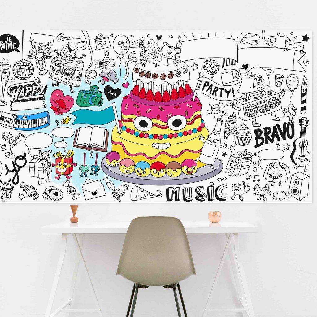 OMY Giant colouring poster XXL - Fiësta