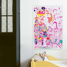 OMY Giant coloring poster Lily