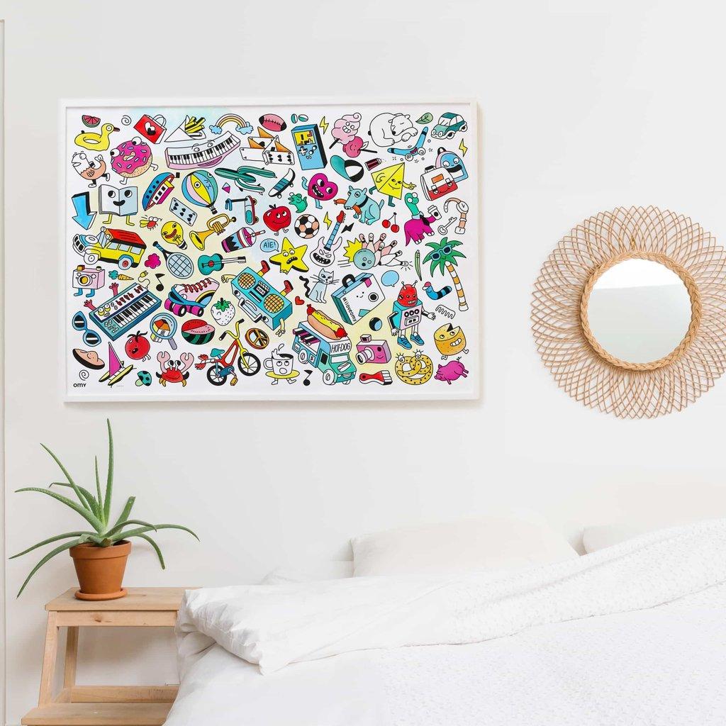 OMY Kleurposter Baby Pop Art
