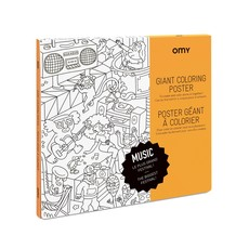 OMY Giant coloring poster Music
