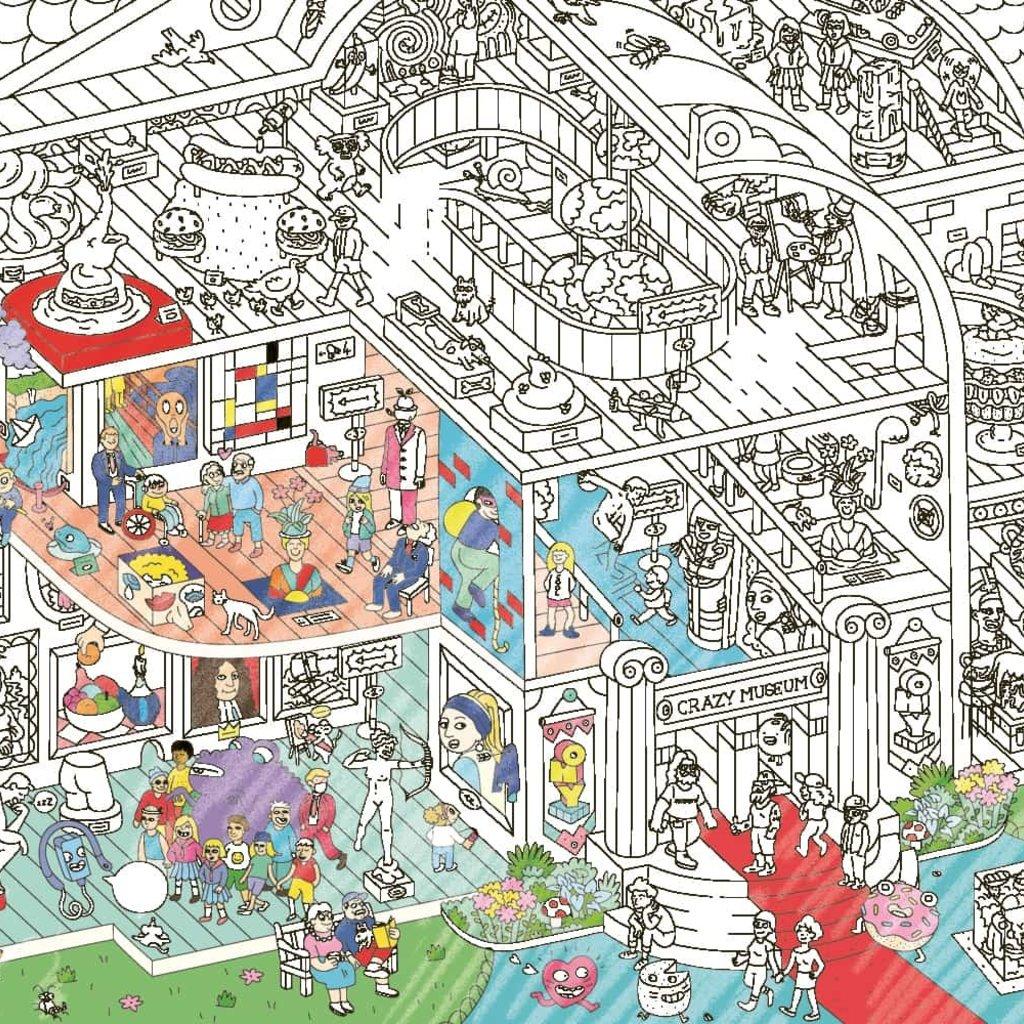 OMY Poster géant à colorier Crazy Museum
